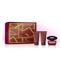 VERSACE CRYSTAL NOIR EDT 50 ML+ B/L 50 ML + SG 50 ML SET REGALO