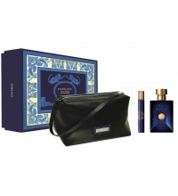 VERSACE DYLAN BLUE EDT 100 ML + EDT 10 ML + NECESER SET REGALO