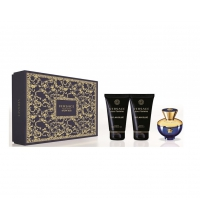 VERSACE DYLAN BLUE FEMME EDP 50 ML + BODY LOCION 50ML + GEL 50ML SET REGALO