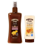 HAWAIIAN ACEITE PROTECTOR SECO SPRAY SPF20 200 ML + LOCIÓN PROTECTORA SPF30 100ML