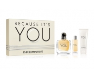 ARMANI BECAUSE IT'S YOU SET EDP 100 ML+ EDP 15 ML + BODYLOTION 75ML SET REGALO