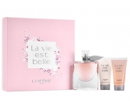 LANCOME LA VIE EST BELLE EDP 75 ML VP. + B/LOC 50 ML + GEL 50 ML SET REGALO